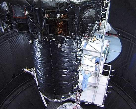 The XMM module during testing. XMM was recently launched from Kourou on the Ariane 5 rocket.