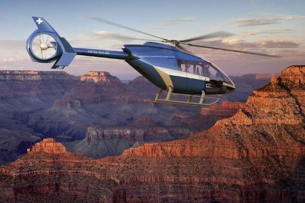 The airframe of the SKYe SH09 helicopter is made from carbon fibre. Image courtesy of Marenco Swisshelicopter AG.