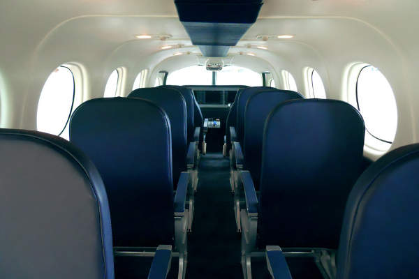 The cabin of P2012 Traveller aircraft will accommodate up to 11 passengers. Image courtesy of Costruzioni Aeronautiche TECNAM.