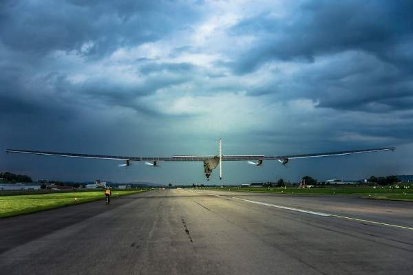 The maiden flight of the Solar Impulse 2 HB-SIB was successfully completed in June 2014. Image courtesy of Solar Impulse.