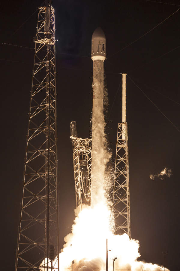The satellite was launched in September 2014 atop a Falcon 9 rocket. Image courtesy of Space Exploration Technologies (SpaceX).
