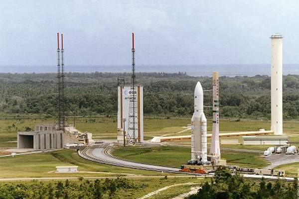 Koreasat-7 will be launched from the Guiana Space Center in French Guiana. Image courtesy of Arianespace.