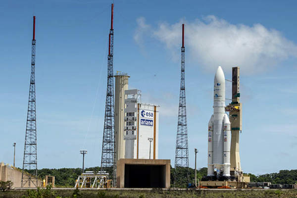 The satellite was launched into the space on Ariane 5 ECA rocket. Image: courtesy of Arianespace.