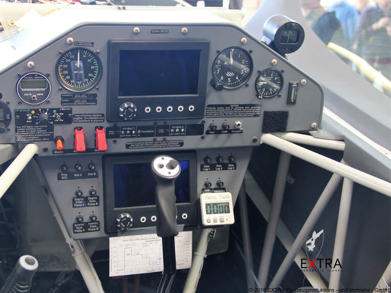 Flight deck of the Extra 330LE aircraft. Image courtesy of Extra Aircraft.