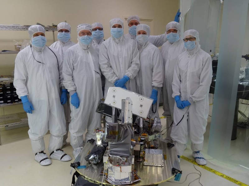 The Michelson Interferometer for Global High-resolution Thermospheric Imaging (MIGHTI) instrument for the satellite was built by the Naval Research Laboratory. Image: courtesy of Nasa/UC Berkeley/ICON.