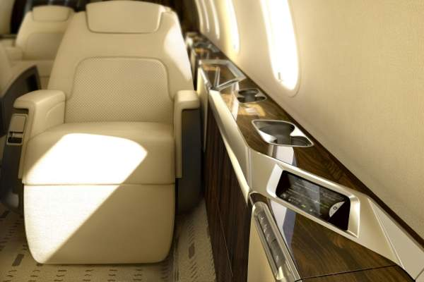 The aircraft features the LHT nice® HD cabin management system.