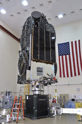 EchoStar XVI satellite was transported to Baikonur Space Centre in Kazakhstan in October 2012.