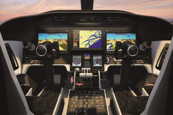 The Learjet 70 will be fitted with Garmin G5000 Vision flight deck. Image courtesy of Bombardier.