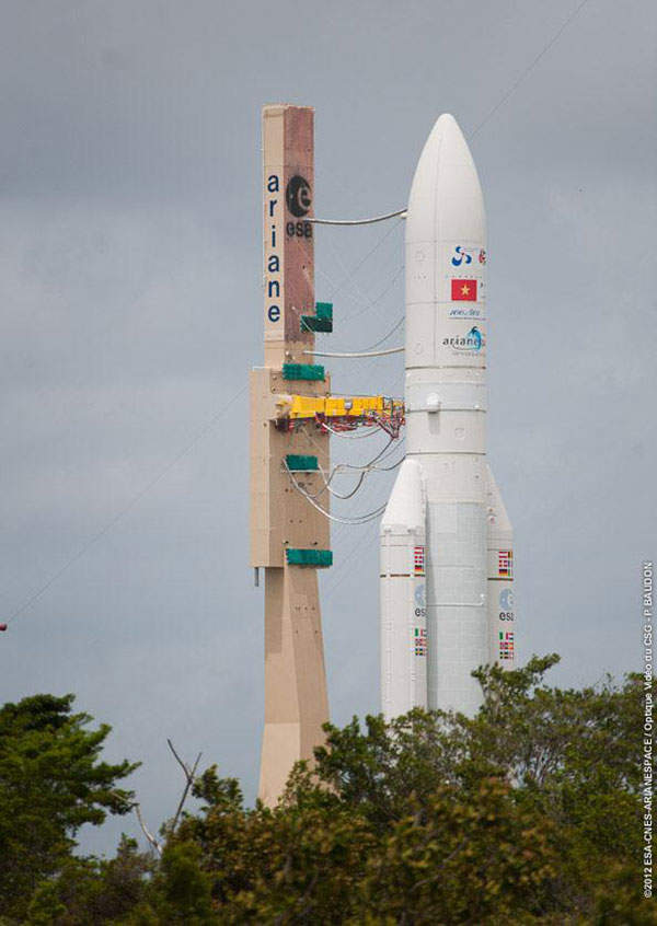 Arianespace was contracted to provide launch services for JCSAT-13 and Vinsat-2, in June 2010. Image courtesy of SKY Perfect JSAT Corporation.