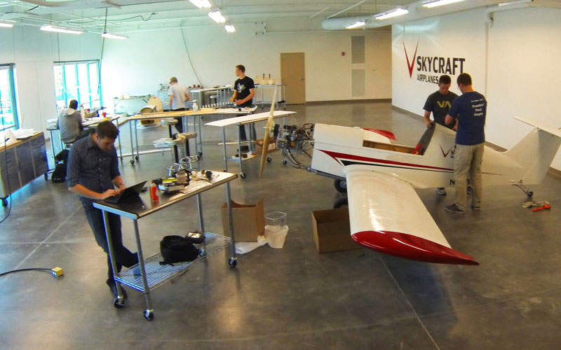 The aircraft is offered in tail wheel and tri-gear configurations. Credit: SkyCraft Airplanes.