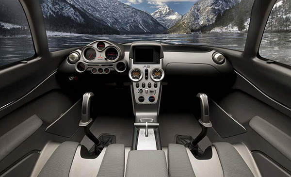 The ergonomically designed cockpit of the A5 features simple, grouped controls, a GPS system, and reclined seating for two.