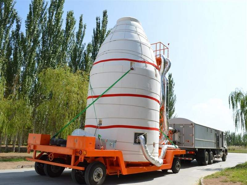 Micius quantum communication satellite being moved to launch tower at the Jiuquan Satellite Launch Center. Image: courtesy of Xinhua.