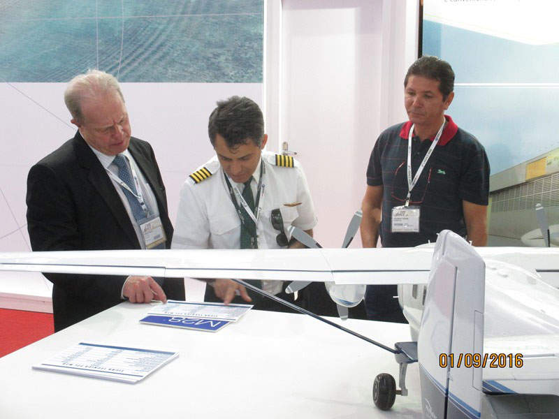 The M28 twin turboprop aircraft was exhibited at the Latin American Business Aviation Conference & Exhibition (LABACE) in 2016. Image: courtesy of PZL Mielec Sp.