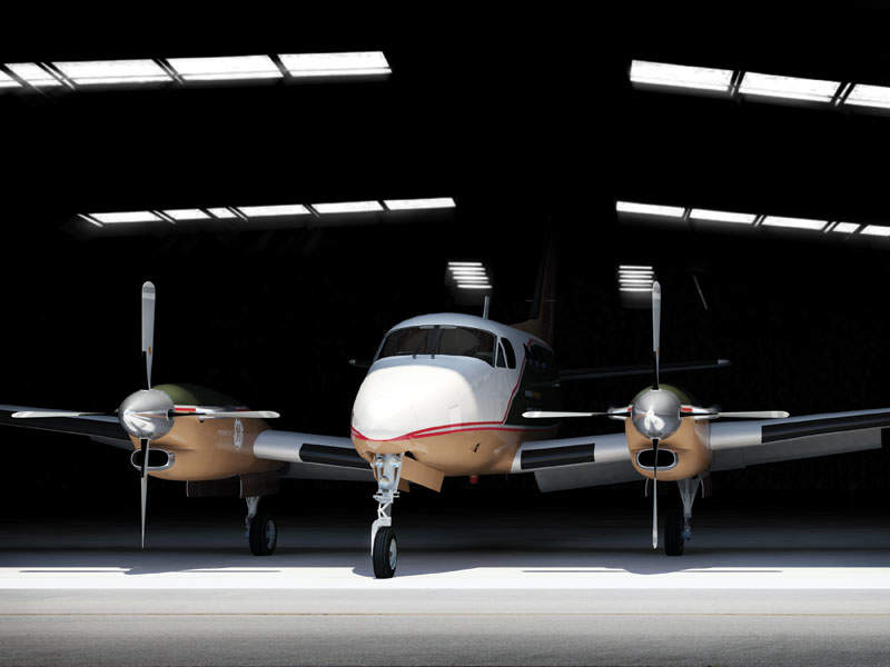 The Nextant G90XT® aircraft is assembled at Nextant's facility located in Cleveland, Ohio, US. Image: courtesy of Nextant Aerospace, a Directional Capital Company.
