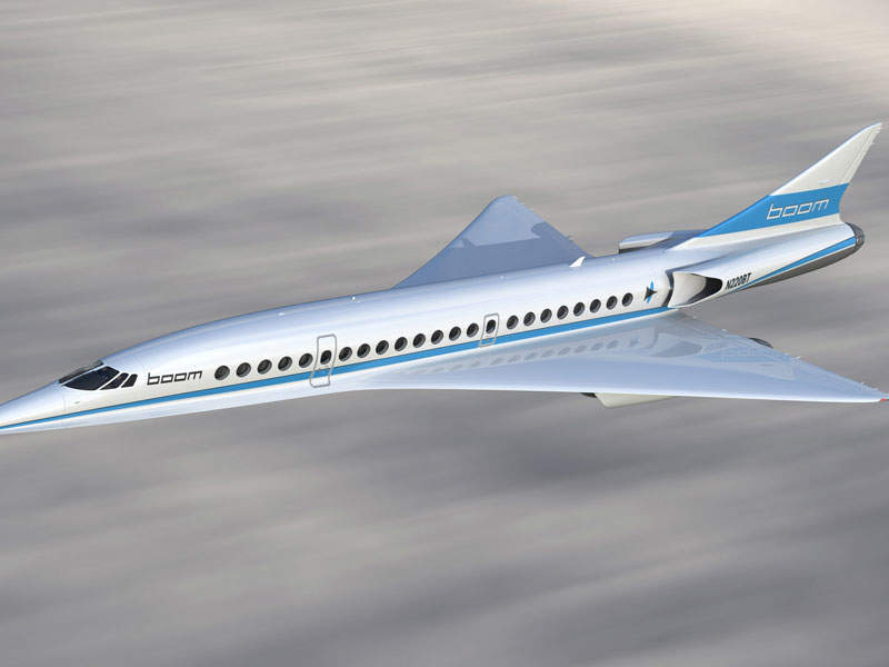 The XB-1 production aircraft will accommodate up to 45 passengers. Image courtesy of Boom Technologies.