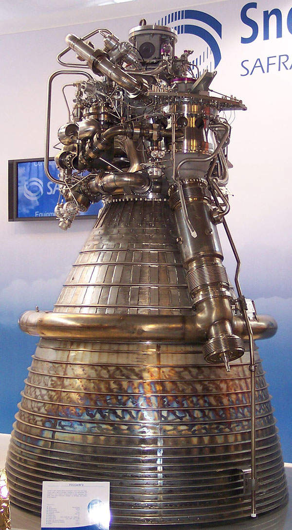 The second stage of Liberty launch vehicle is powered by Vulcain 2 engine. Image courtesy of Stahlkocher.