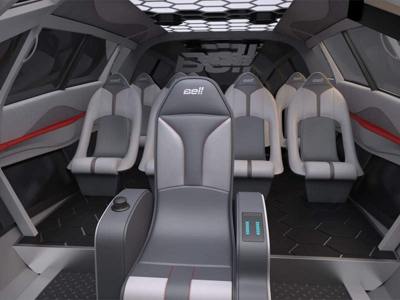FCX-001 will feature a single seat for pilot in the middle of the cockpit. Image courtesy of Bell Helicopter.