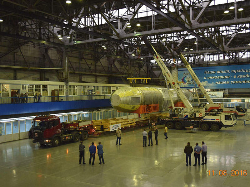 Testing of the MC-21 fuselage at the Central AeroHydrodynamic Institute (TsAGI). Image: courtesy of Irkut Corporation.