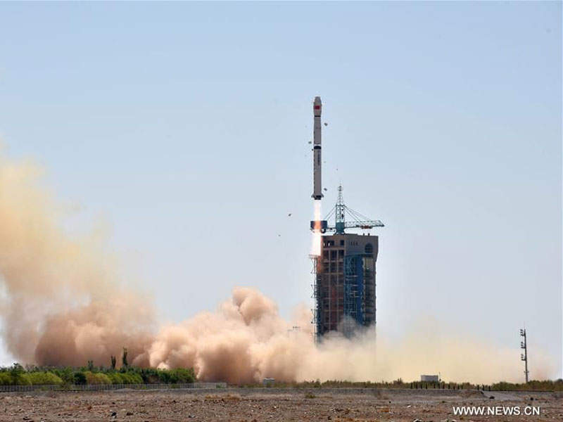 The HXMT was launched aboard Long March-4B rocket in June. Image: courtesy of www.news.cn