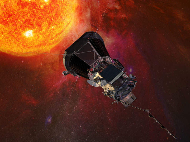 Parker Solar Probe spacecraft will provide insights into the Sun's atmosphere. Image: courtesy of Nasa/JHUAPL.