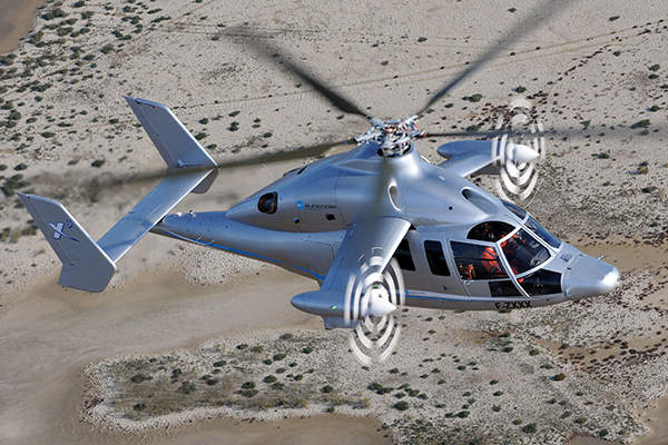 The helicopter is built without a tail-rotor. Image courtesy of Patrick PENNA.