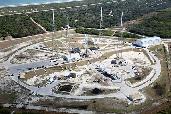 The satellite will be launched from the Cape Canaveral launch site located in Florida. Image courtesy of SpaceX.
