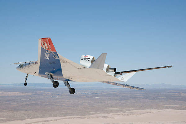 The X-48C completed its maiden flight in August 2012. Image courtesy of Nasa / Carla Thomas.