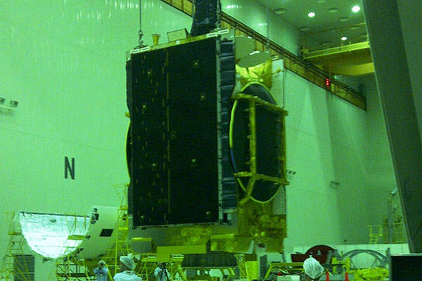 The satellite underwent final tests for launch in July 2013. Image courtesy of SES.
