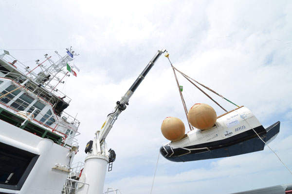 The descent and landing tests on the IXV vehicle were completed between November 2012 and June 2013. Image courtesy of Neri - Livorno (I).