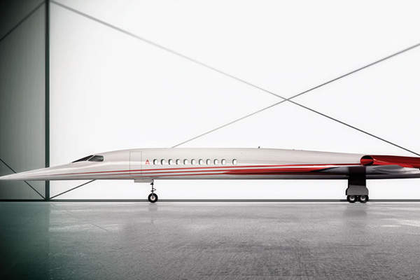 The AS2 supersonic business jet will be 49m long and 21m wide. Image courtesy of Aerion Corporation.
