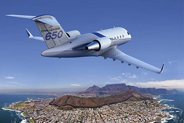 The aircraft was officially launched at the National Business Aviation Conference and Exhibition (NBAA). Image courtesy of Bombardier.