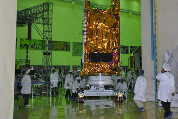 The satellite is expected to provide service for more than 12 years. Credit: ISRO.