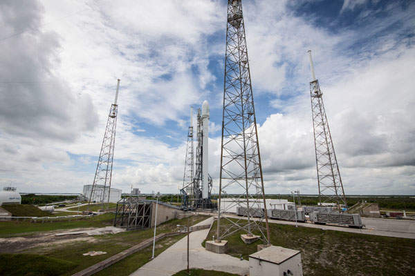 The satellite will be launched from SpaceX's launch complex in Cape Canaveral Air Force Station, Florida. Image courtesy of Space Exploration Technologies Corp.