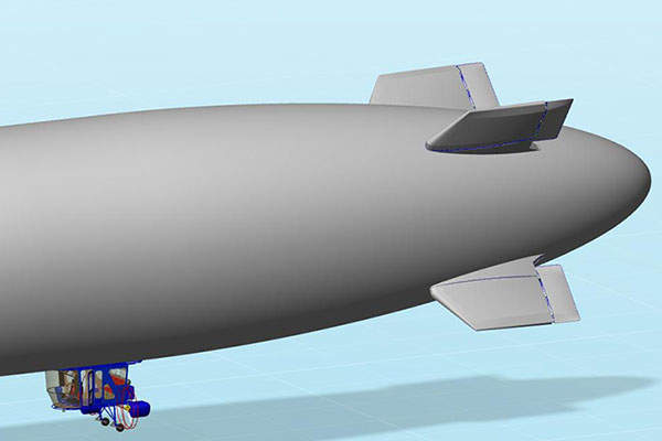 The airship can carry a useful payload of more than 2,200lb. Image courtesy of Worldwide Aeros Corp. (Aeros).