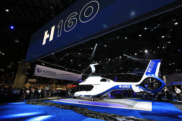 The H160 flies at a cruise speed of 160k. Credit: Airbus Helicopters.