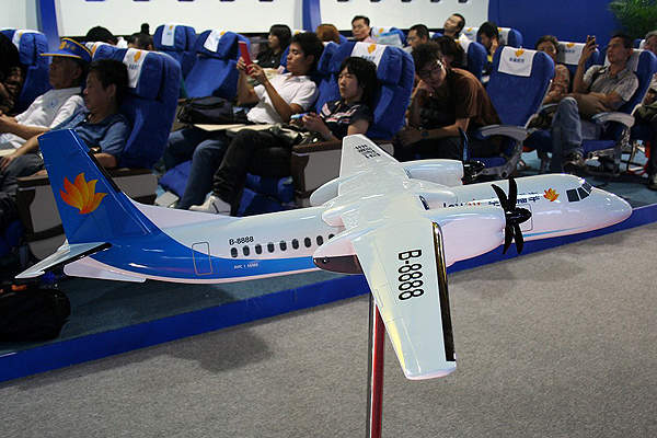A model of the MA60 displayed at the Airshow China 2008 at Zhuhai. Image courtesy of Mike-tango.