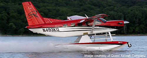 The Quest Kodiak is fitted with fixed tricycle type landing gear.
