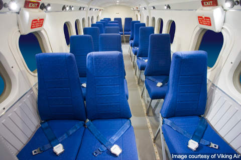 The Cabin of DHC-6-400 can accommodate 19 passengers.