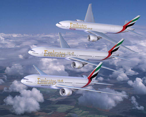 Emirates Airlines ordered 42 Boeing 777 aircraft, including eight 777 freighters in November 2005. Emirates will become the world's largest operator of the 777 aircraft family.