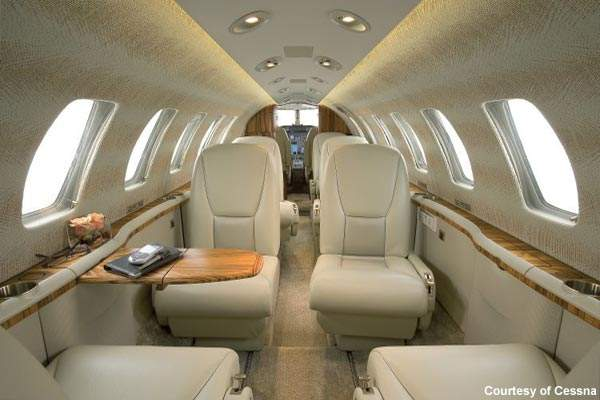 The Encore plus is typically configured for seven passengers and up to two crew members.