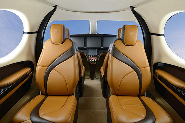 The cabin of the aircraft will have large space with comfortable executive seats. Image courtesy of Kestrel Aircraft.