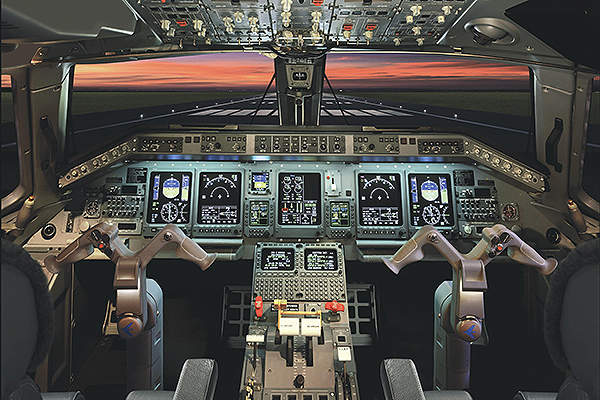 Legacy 600 is fitted with a Honeywell Primus Elite avionics suite. Image courtesy of Embraer Executive Jets.