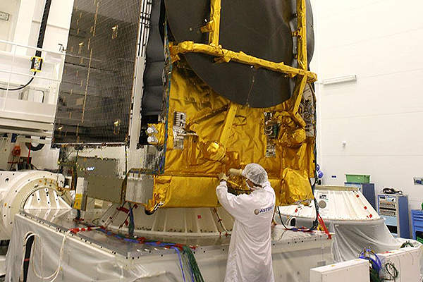 The satellite has 43 C-band and 48 Ku-band transponders. Courtesy of: SES - www.ses.com.