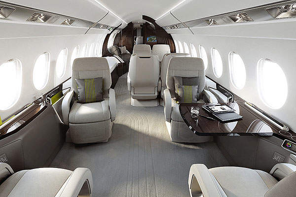The cabin of the aircraft has a total volume of 50m³. Image courtesy of Dassault Aviation.