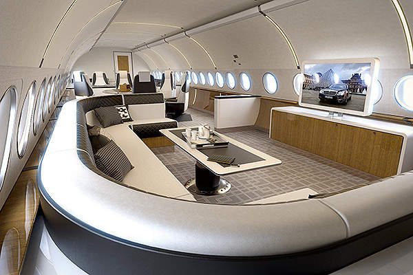 The ACJ139 has a gross cabin floor area of 82.7m square metres. Image courtesy of Airbus S.A.S.
