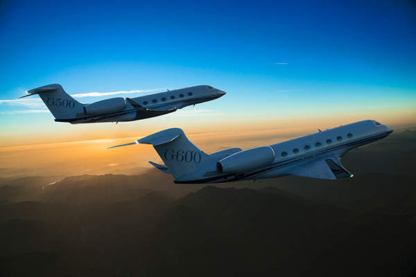 The jet was launched along with G600, a business jet belonging to the same family. Image courtesy of Gulfstream Aerospace Corporation.