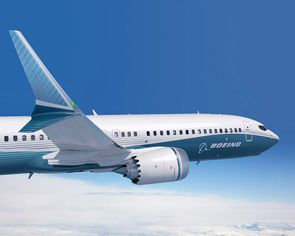 The Boeing 737 MAX aircraft features an advanced technology winglet. Image courtesy of Boeing.