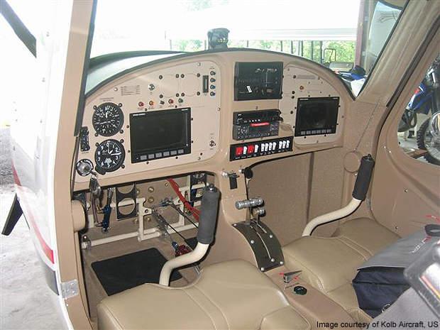 The Kolb Flyer cockpit.