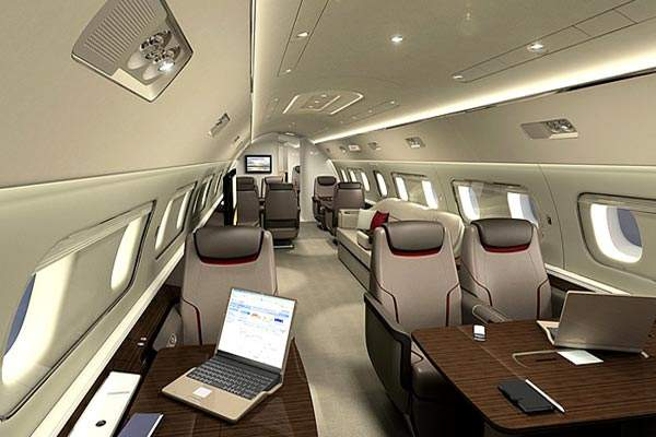 Lineage 1000 has an innovative and luxurious cabin layout designed by Priestman Goode of the UK.
