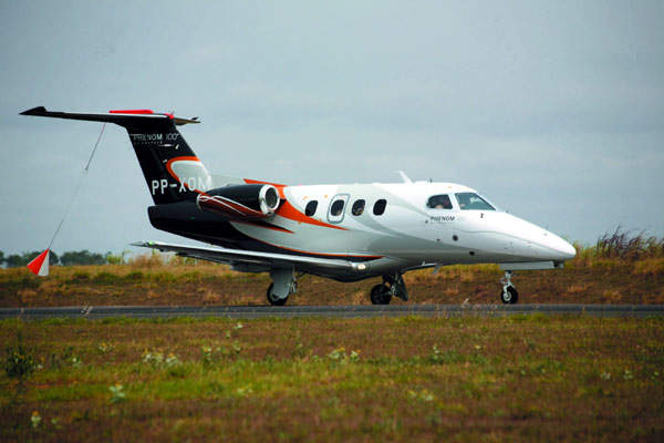 The Phenom 100 has a range of 1,160nm (2,148km) with four occupants.